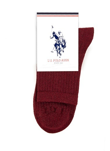 U.S. Polo Assn. Çorap Bordo
